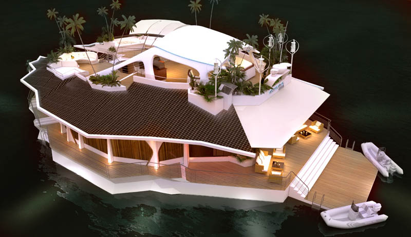 man made floating island boat orsos 21 Orsos: The Moveable Floating Island