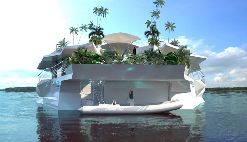 man made floating island boat orsos 27 Orsos: The Moveable Floating Island