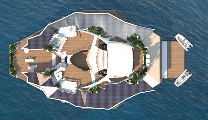 man made floating island boat orsos 33 Orsos: The Moveable Floating Island
