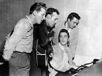 famous cropped photo of million dollar quartet