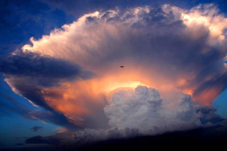 Amazing Mushroom Storm Cloud Over Beijing