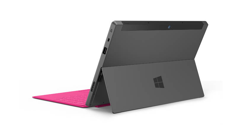 new microsoft surface tablet kickstand viewed from behind