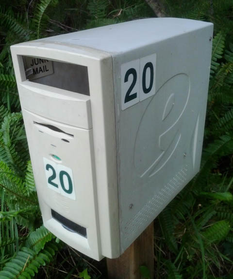 turn old computer tower into mail box