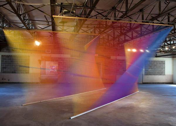 plexus 4 art installation made from thread