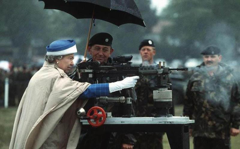 queen elizabeth shooting a gun The Shirk Report   Volume 164