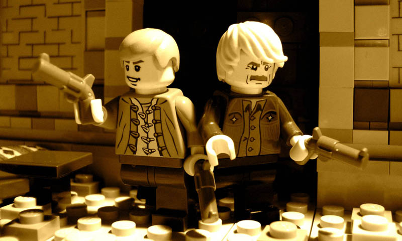 recreating movie scenes from lego alex eylar butch cassidy and the sundance kid Recreating Famous Movie Scenes with Lego