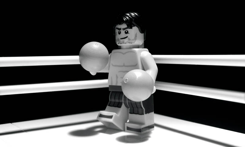 recreating movie scenes from lego alex eylar raging bull Recreating Famous Movie Scenes with Lego