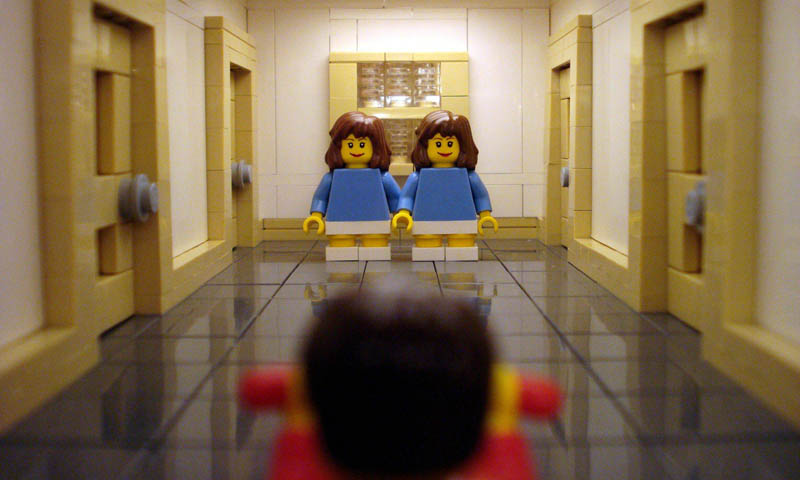 recreating movie scenes from lego alex eylar the shining Recreating Famous Movie Scenes with Lego