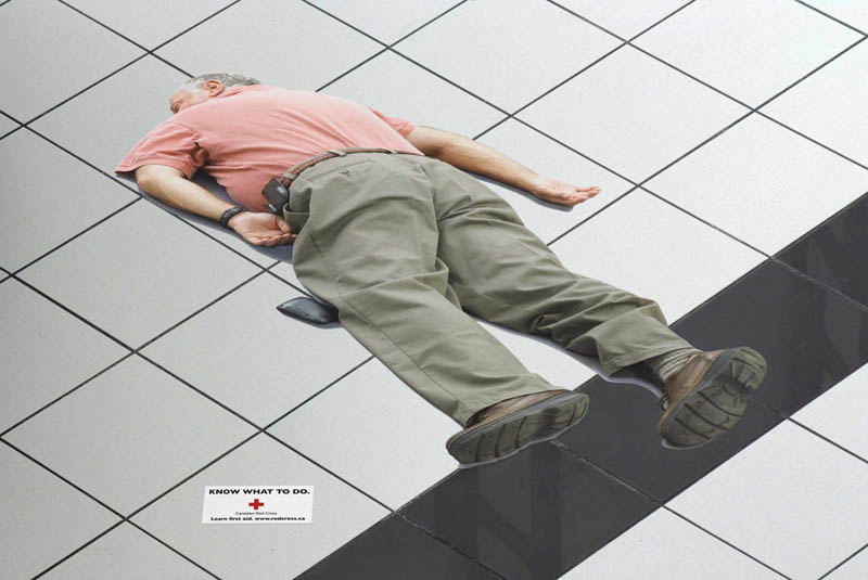 25 Really Creative Floor Sticker Ads 171 Twistedsifter