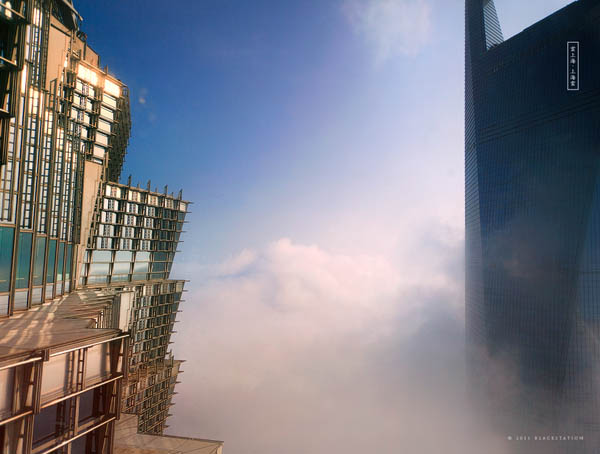 shangai skyscrapers above the clouds jin mao tower swfc blackstation 3 The Skywalkers of Shanghai