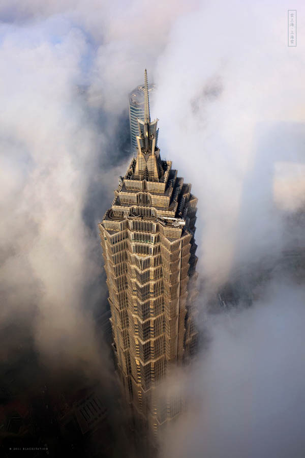 jin mao tower above the clouds