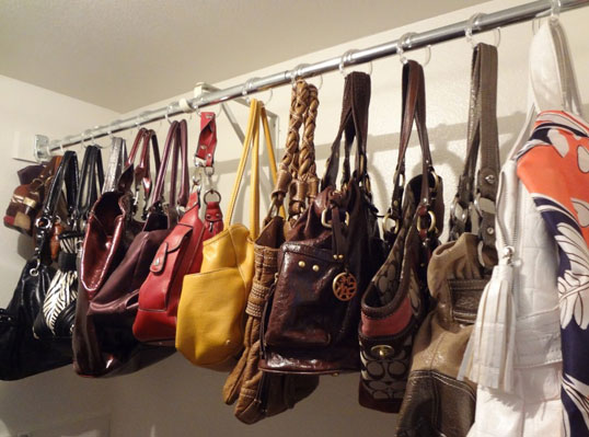 shower hooks for handbags 50 Creative Ways to Repurpose, Reuse and Upcycle Old Things
