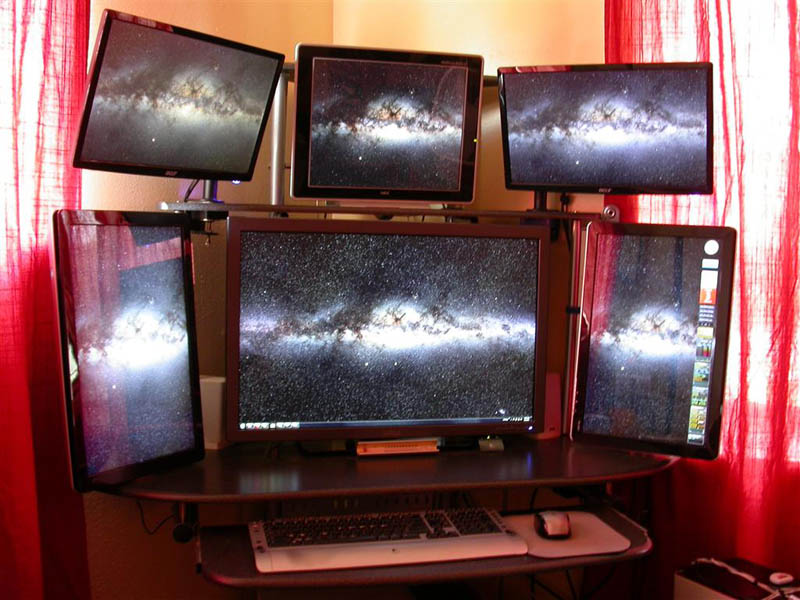 how to set up six way monitor