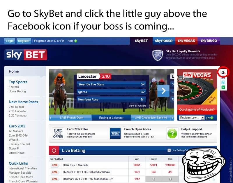 skybet spreadsheet easter egg funny