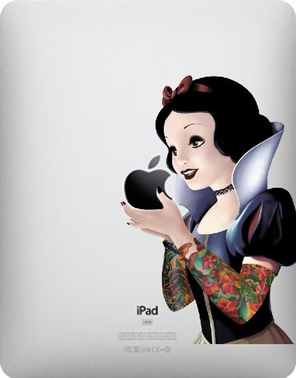 snow white funny creative ipad decal 33 Creative Decals for your iPad