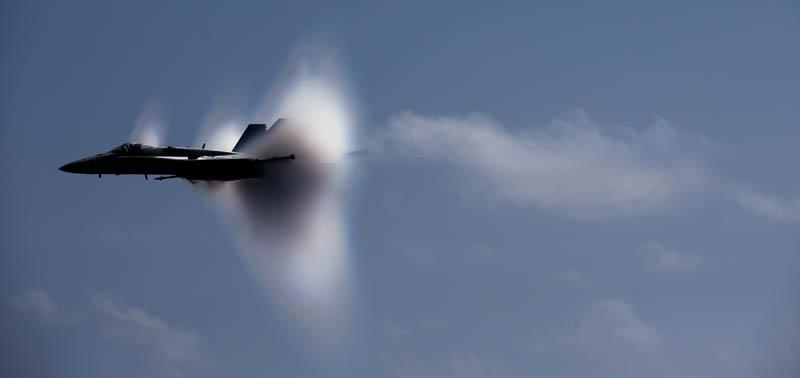 sonic boom from f18 hornet