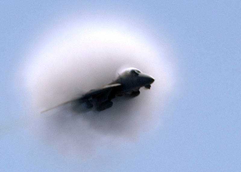 sonic boom breaking the sound barrier 7 40 Photos of Airplanes Breaking the Sound Barrier