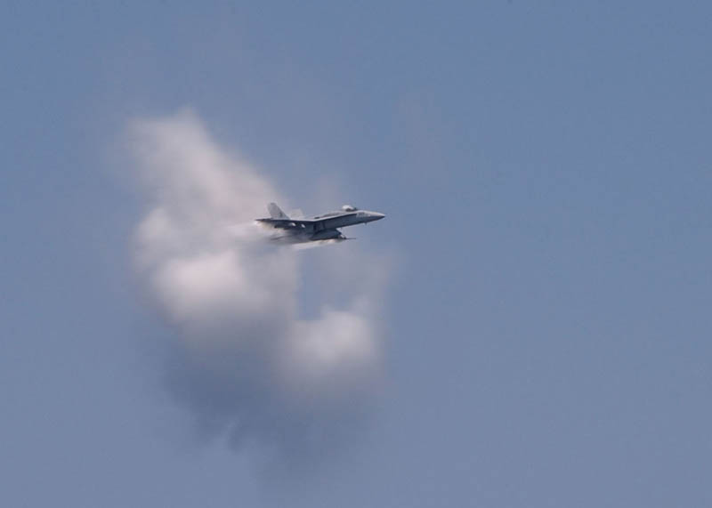 sonic boom breaking the sound barrier 9 40 Photos of Airplanes Breaking the Sound Barrier
