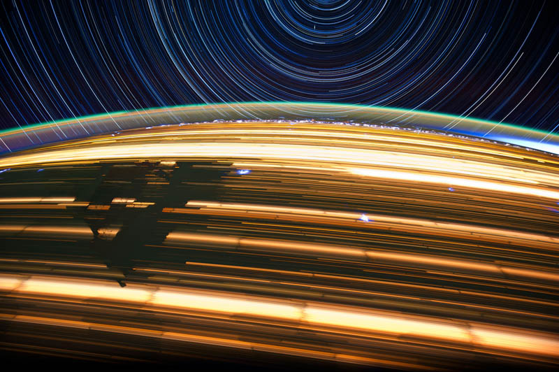 star trails seen from space iss nasa don pettit 13 21 Star Trails Captured from Space
