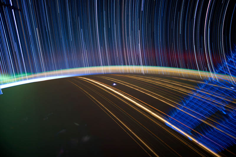 star trails seen from space iss nasa don pettit 20 21 Star Trails Captured from Space