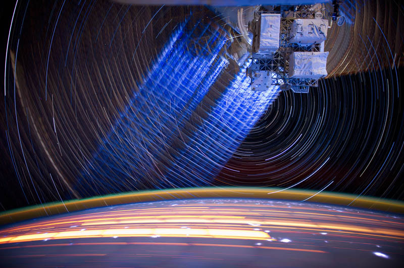 star trails seen from space iss nasa don pettit 21 21 Star Trails Captured from Space