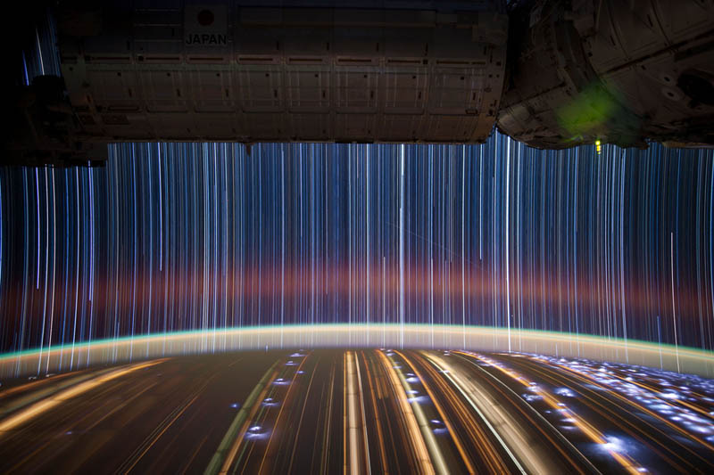 star trails seen from space iss nasa don pettit 4 6 Amazing Color Spectrums Made from Thread