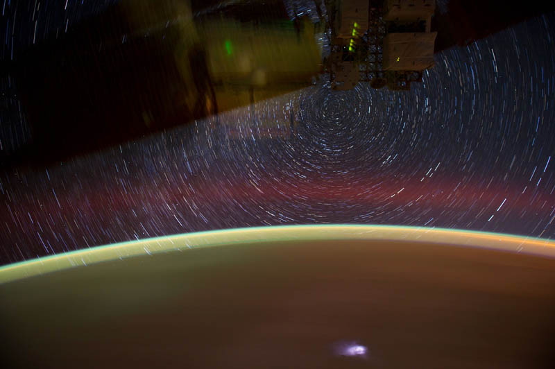 star trails seen from space iss nasa don pettit 9 21 Star Trails Captured from Space