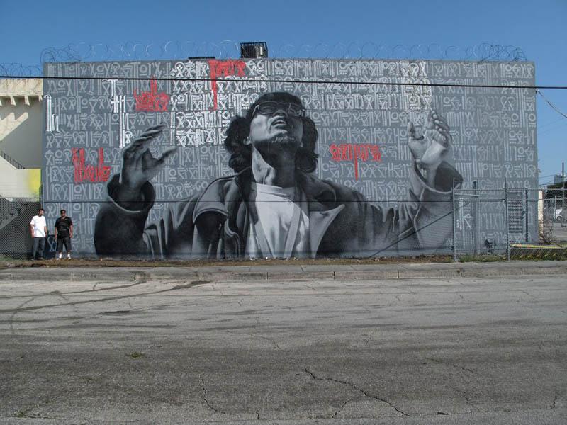 Unbelievable street art murals by el mac twistedsifter for Mural street art