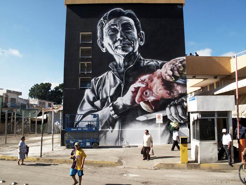 Unbelievable street art murals by el mac twistedsifter for Art miles mural project