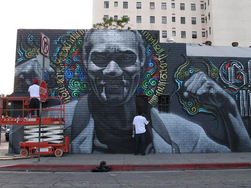street art murals by el mac 7 Unbelievable Street Art Murals by El Mac
