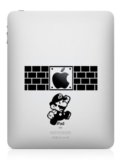 super mario funny creative ipad decal 33 Creative Decals for your iPad
