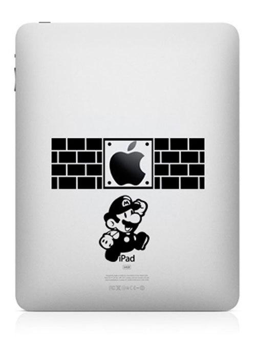super mario funny creative ipad decal 33 Creative Decals for your iPad
