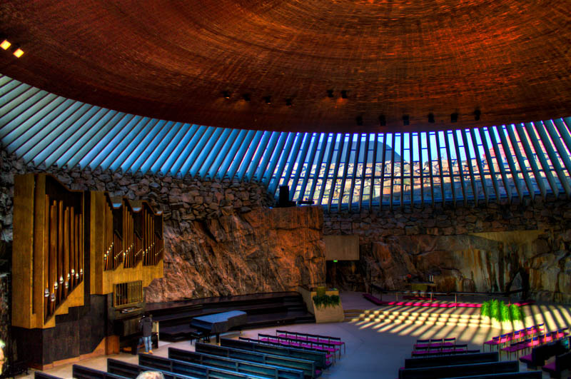 temppeliaukio rock church helsinki finland Sedlec Ossuary: The Bone Church of 40,000 Souls