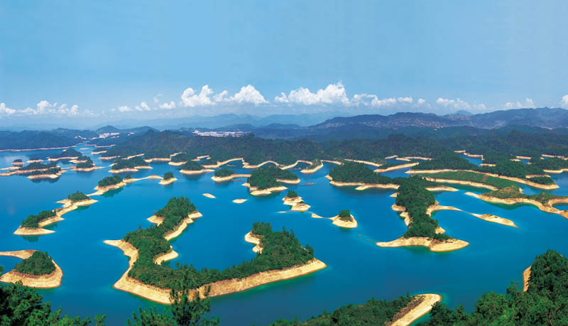 picture of the day thousand island lake in china twistedsifter