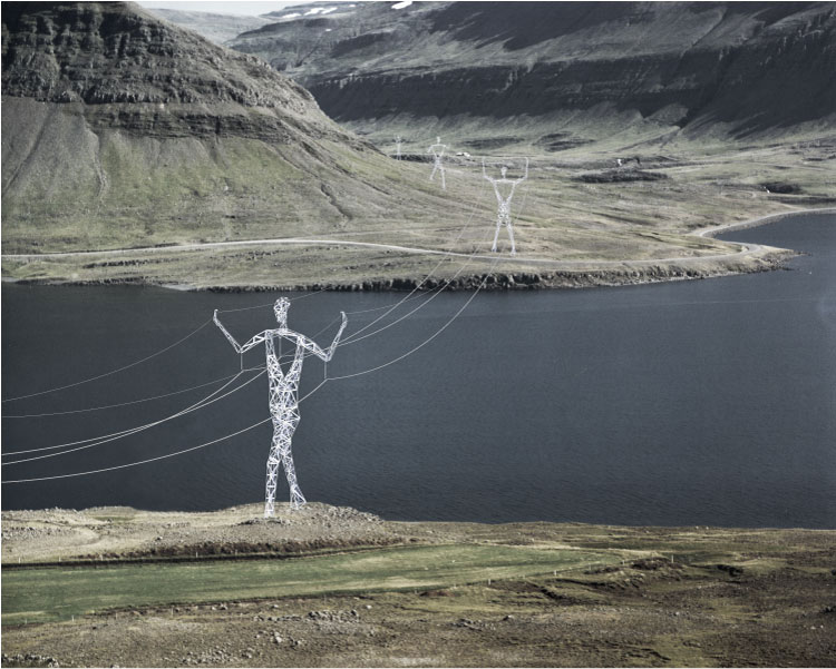 transmission tower people Turning Transmission Towers into Giant People