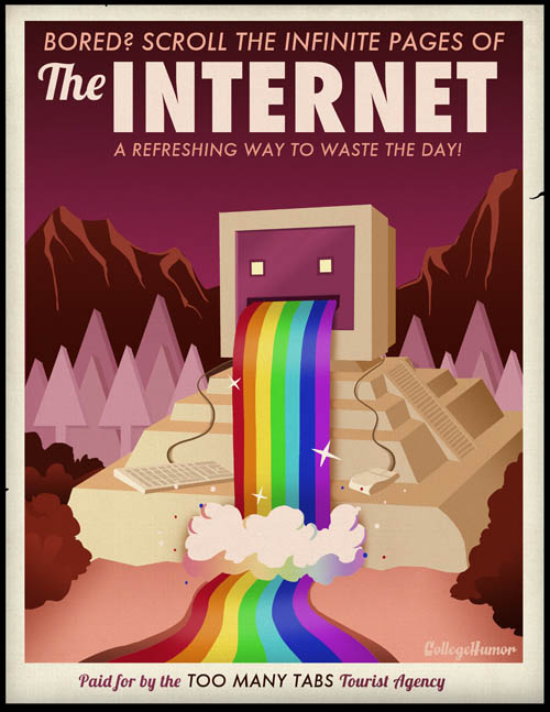 travel poster for surfing the internet