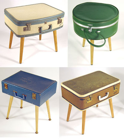 Turn Old Luggage Into Side Tables