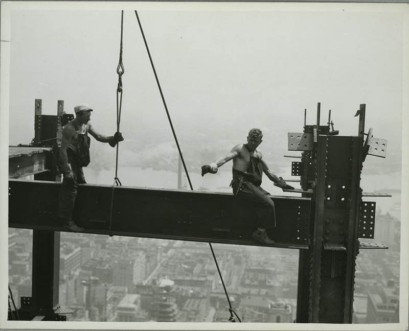 Photos of the Empire State Building UnderConstruction