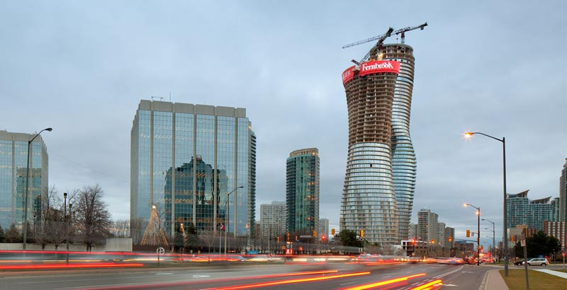 absolute towers by mad architects under construction mississauga 4 The Curvaceous Marilyn Monroe Absolute Towers