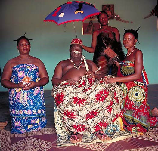 portrait of AGBOLI-AGBO DEDJLANI – King of Abomey (Benin) by daniel lane