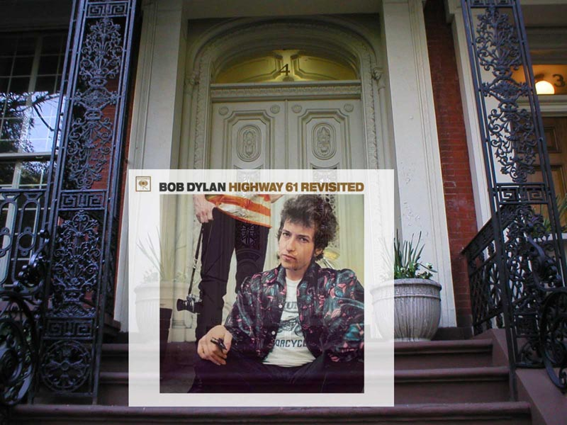 bob dylan highway 61 revisited album cover in new york