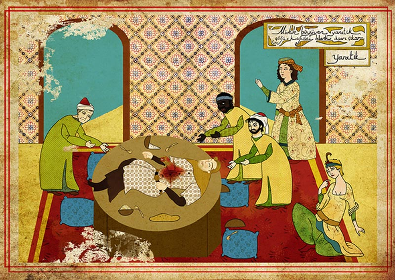 11 Classic Movie Scenes as Ottoman Motifs
