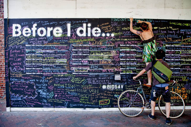 before i die i want to street art project by candy chang 12 Football Club Removes Red from Jersey for Blood Donation Campaign