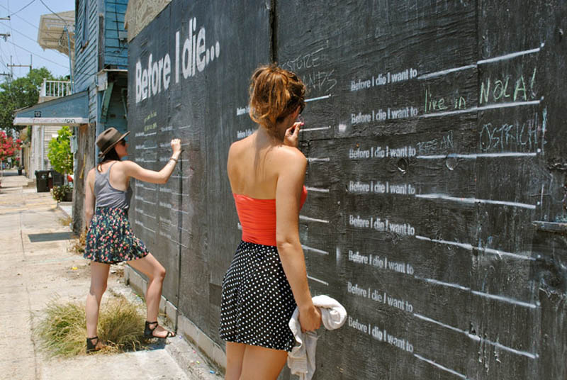 before i die i want to street art project by candy chang 14 The Before I Die Project