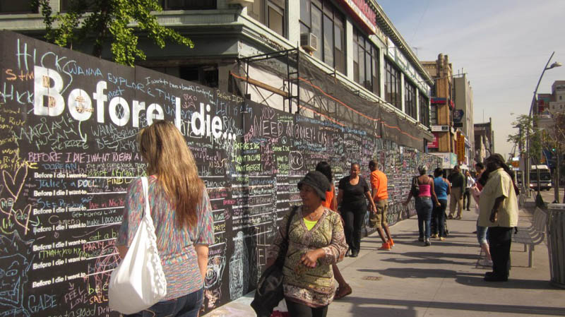 before i die i want to street art project by candy chang 15 The Before I Die Project