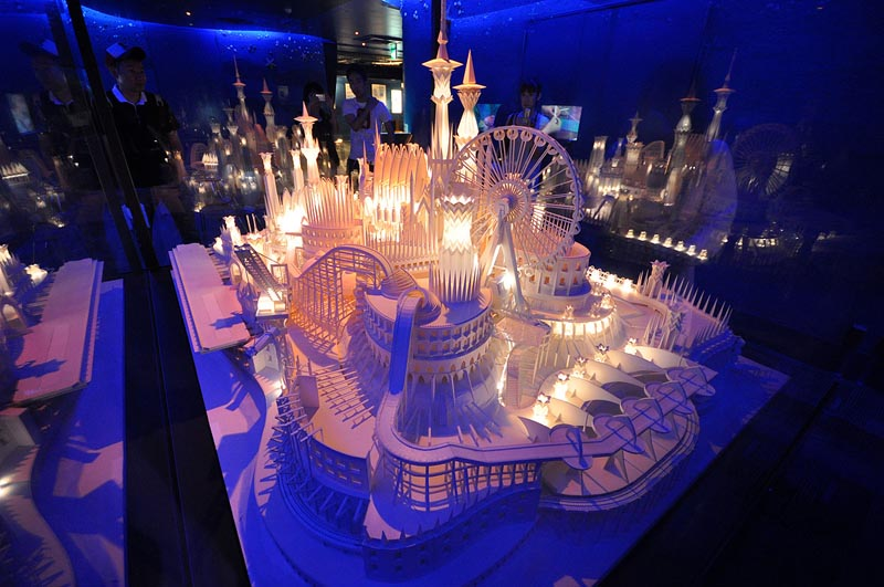 castel made from paper by wataru itou japan 11 An Incredible Castle Made from Paper