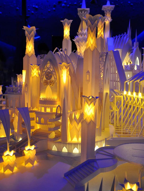 castel made from paper by wataru itou japan 3 An Incredible Castle Made from Paper