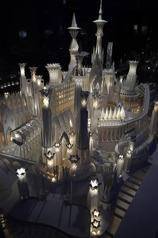 castel made from paper by wataru itou japan 5 An Incredible Castle Made from Paper