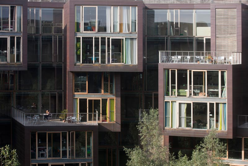 circular residence with giant interior courtyard denmark 2 The Worlds Coolest University Dorm