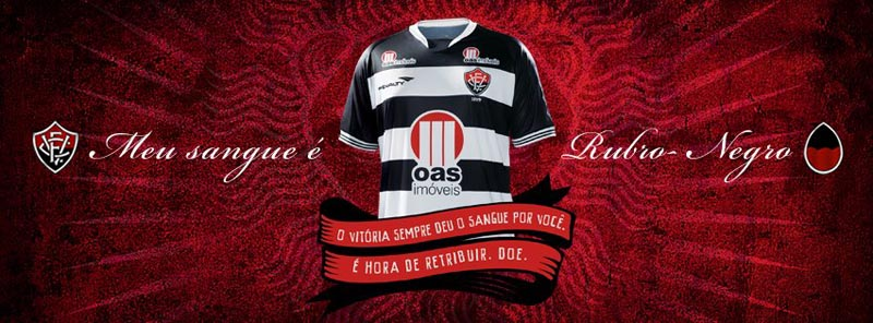 ec vitoria donate blood to restore red stripes on football club jersey 1 Football Club Removes Red from Jersey for Blood Donation Campaign